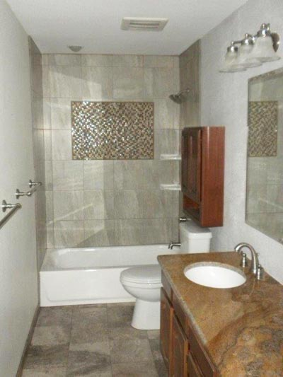 Castle pines co handyman projects incepector handyman for Guest bathroom remodel ideas